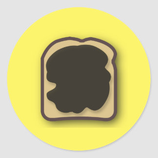 Aussie Yeast Extract on Toast Classic Round Sticker