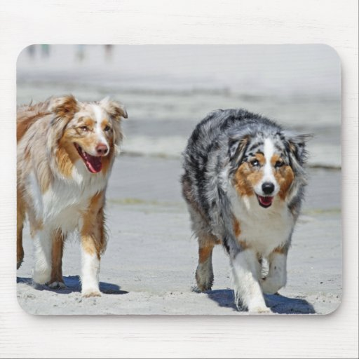 Aussies - 1st Day of Summer Beach Stroll Mouse Pads