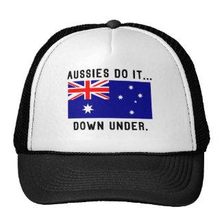Aussies Do It... Down Under. Cap