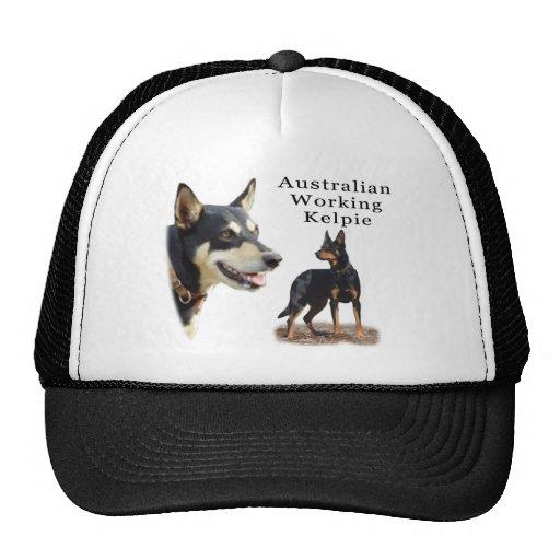 Aust Working Kelpie black and tan Trucker Hats