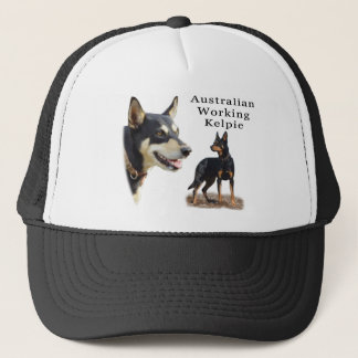 Aust Working Kelpie black and tan Trucker Hat