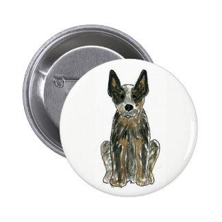 Austalian Cattle Dog 6 Cm Round Badge