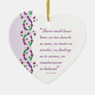 Austen Quote Ornament