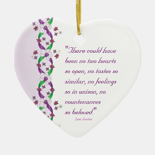 Austen Quote Ornament