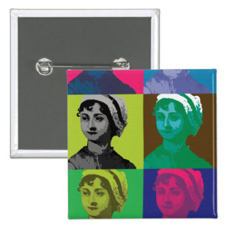 AustenPop -- Jane Austen style 15 Cm Square Badge