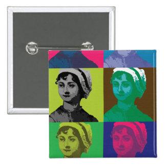 AustenPop -- Jane Austen style 15 Cm Square Badge