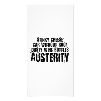 Austerity - Spartan Lifestyle Personalised Photo Card