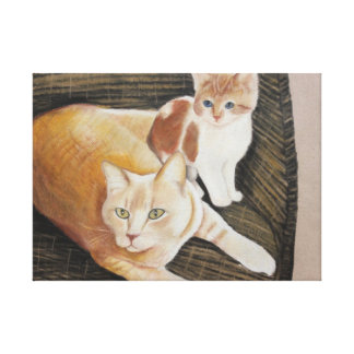 Austi And Friend Stretched Canvas Prints