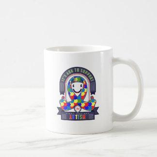 Austim - Retro Charity Ribbon - Coffee Mug