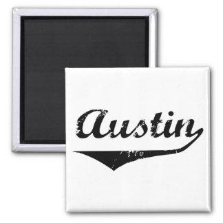 Austin black text magnet