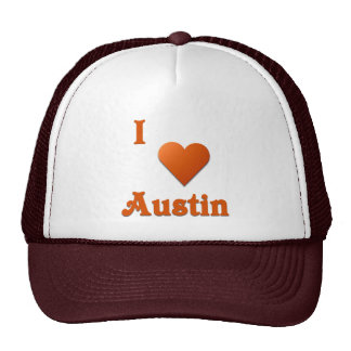 Austin -- Burnt Orange Mesh Hats
