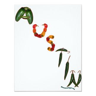 Austin Chili Peppers 11 Cm X 14 Cm Invitation Card