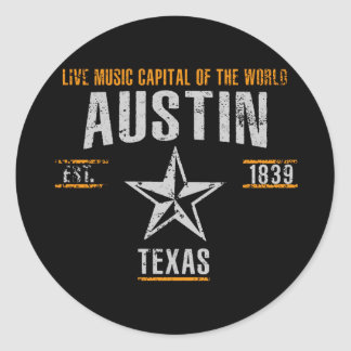 Austin Classic Round Sticker