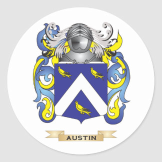 Austin Coat of Arms (Family Crest) Round Sticker