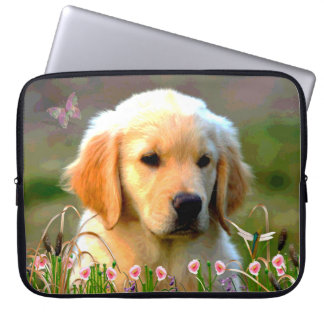 Austin Golden Labrador Puppy Laptop Sleeve