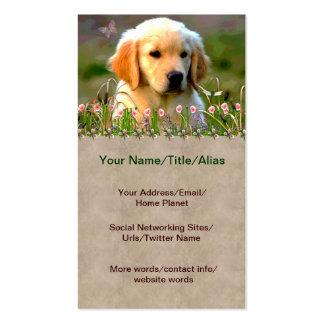 Austin Golden Labrador Puppy Pack Of Standard Business Cards