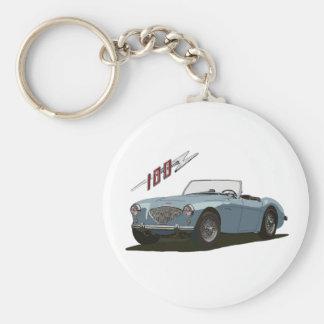 Austin Healey 100 Basic Round Button Key Ring