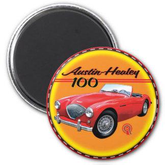 Austin Healey 100- six 6 Cm Round Magnet