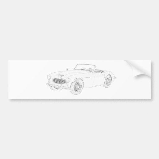 Austin Healey 1960 Bumper Sticker