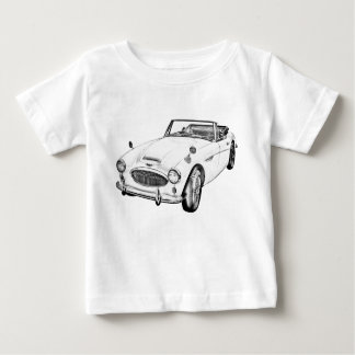 Austin Healey 300 Sports Car Illustration Baby T-Shirt