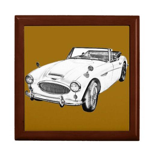 Austin Healey 300 Sports Car Illustration Gift Box
