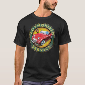 Austin Healey Bugeye sprite service sign T-Shirt