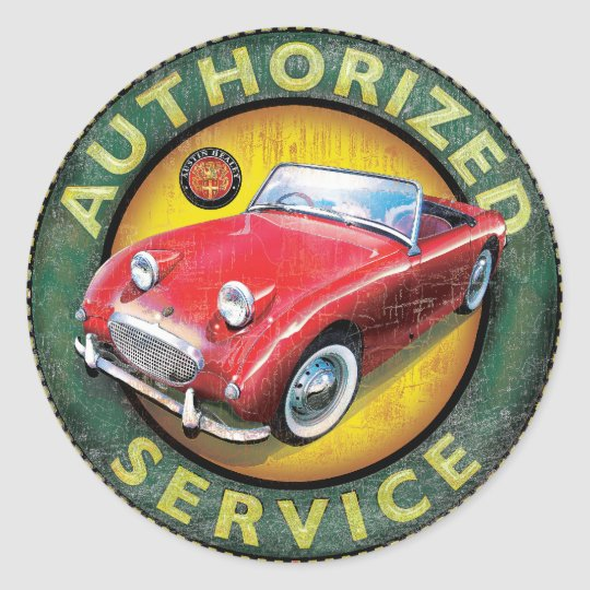 Austin Healey Frog eye sprite Classic Round Sticker