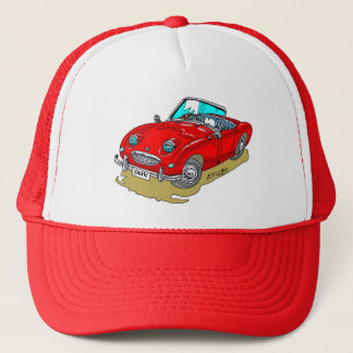 Austin-Healy Sprite cartoon Trucker Hat