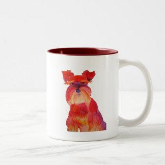 Austin in Red Two-Tone Coffee Mug