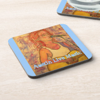 austin live music girl beverage coasters
