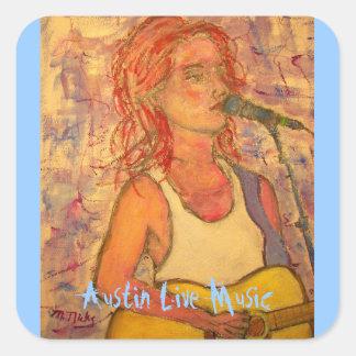 Austin Live Music Square Sticker