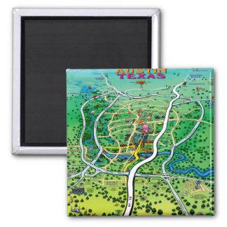 Austin Map Magnet