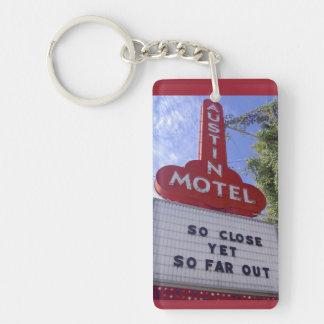 Austin Motel Single-Sided Rectangular Acrylic Key Ring