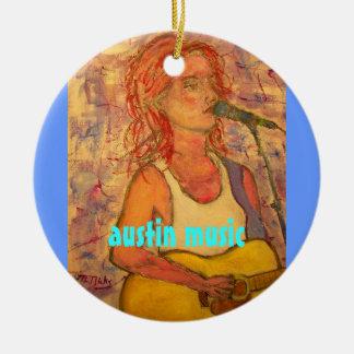 austin music art round ceramic decoration