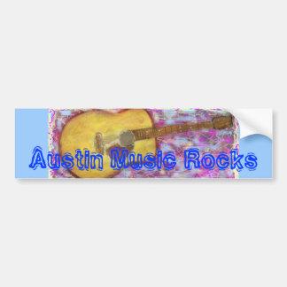 Austin Music Rocks Bumper Sticker