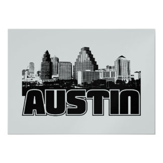 Austin Skyline 13 Cm X 18 Cm Invitation Card