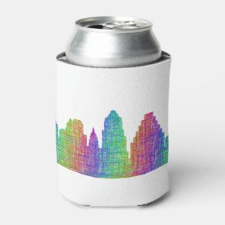 Austin skyline can cooler