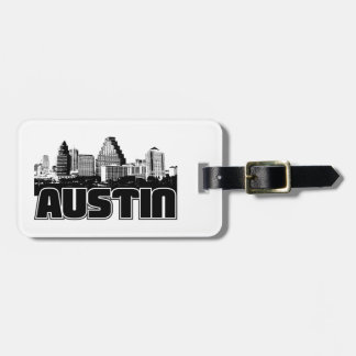 Austin Skyline Luggage Tag
