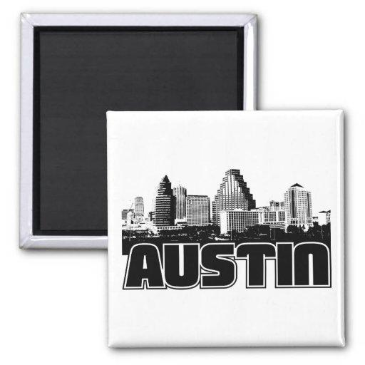 Austin Skyline Refrigerator Magnets