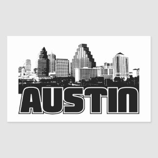 Austin Skyline Rectangular Sticker