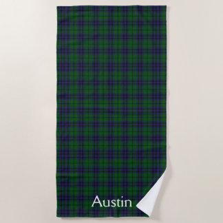 Austin Tartan Plaid Beach Towel