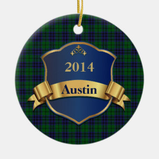 Austin Tartan Plaid Custom Ornament