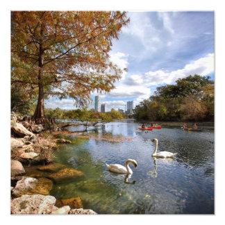 Austin, Texas Barton Creek / Ladybird Lake Skyline Photo