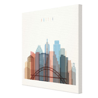Austin, Texas | City Skyline Canvas Print