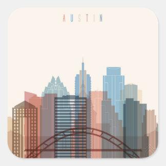 Austin, Texas | City Skyline Square Sticker