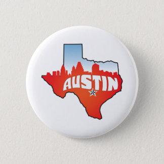 Austin Texas Cityscape 6 Cm Round Badge