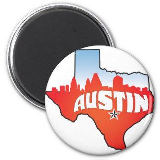 Austin Texas Cityscape Magnet