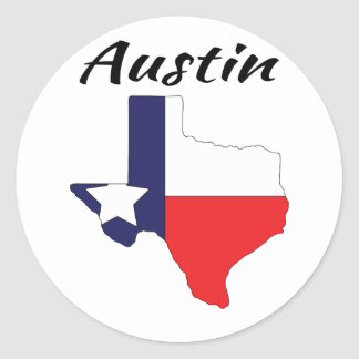 Austin - Texas Classic Round Sticker
