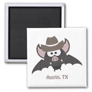 Austin, Texas - Cowboy bat Magnet