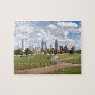 Austin, Texas Downtown Skyline from Butler Park Jigsaw Puzzle